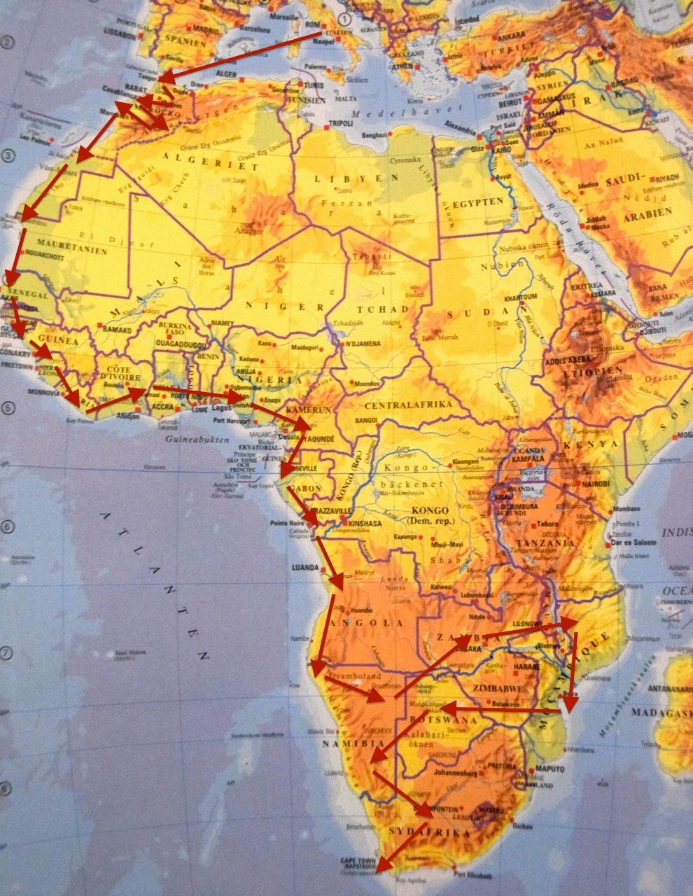 Karta Afrikas Ostkust.Afrika 2016 17 Familjen Markens Aventyr