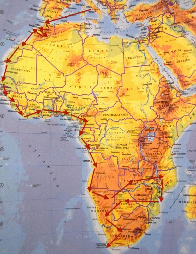 Karta Afrika