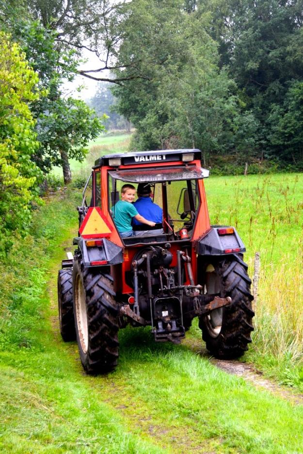 Harald i traktor
