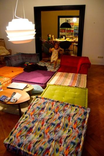 Soffan blev ett madrassgolv