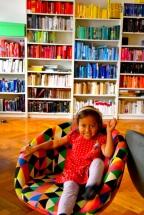 Färgsorterade böcker