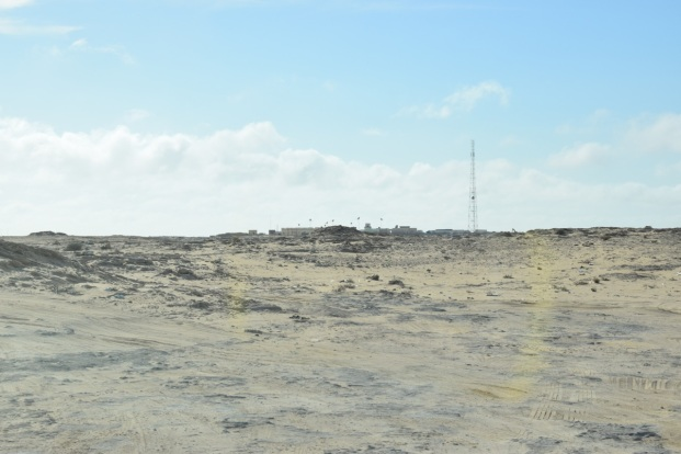1,5 km på grus och sten till Mauretanien