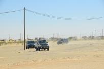 Mauretaniens President körde förbi oss i stor konvoj