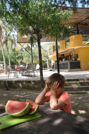 Vattenmelon och vila i värmen