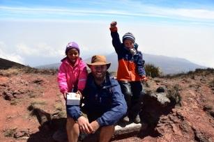 På toppen! 4090 m!