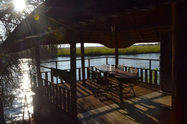 Bloggplats vid Okavangofloden