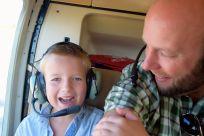 Harald och J i helikoptern