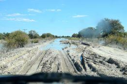 lerig väg i Botswana