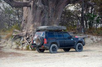 Under ett Baubab-träd i Botswana