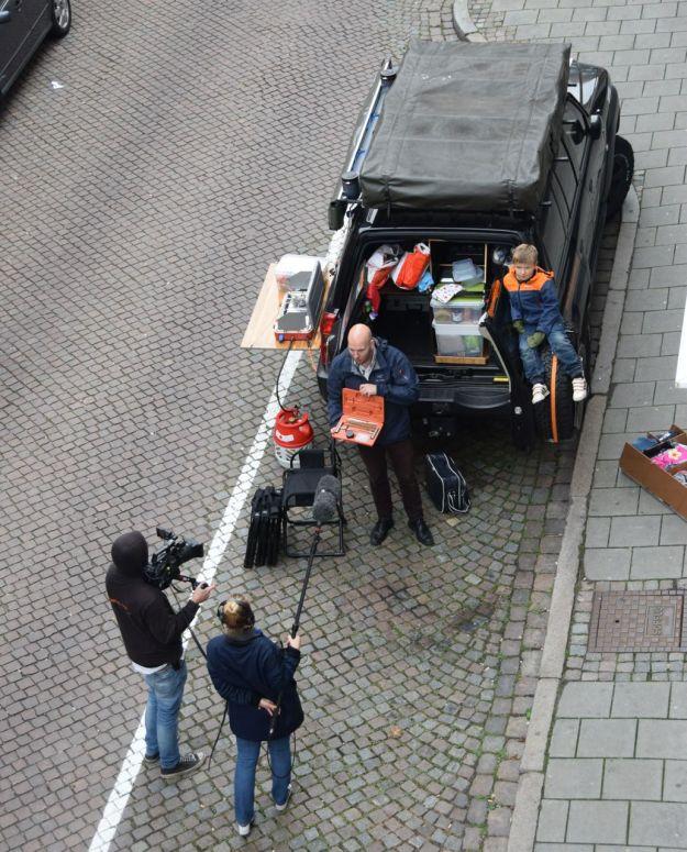 Filmteamet in action