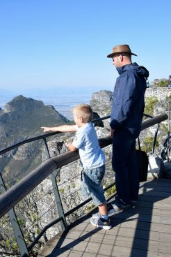Jörgen och Harald på table mountain